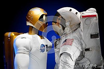 Human And Robotic Astronauts Free Public Domain Cc0 Image