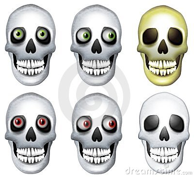 Human Skulls Clip Art