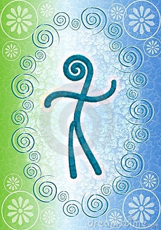 Human Spirit Symbolic Background 2