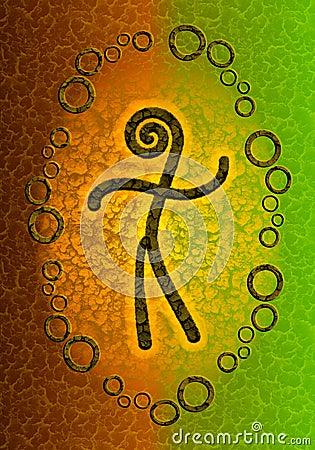 Human Spirit Symbolic Background