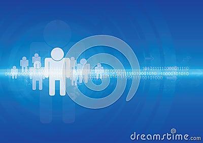 Human technology background