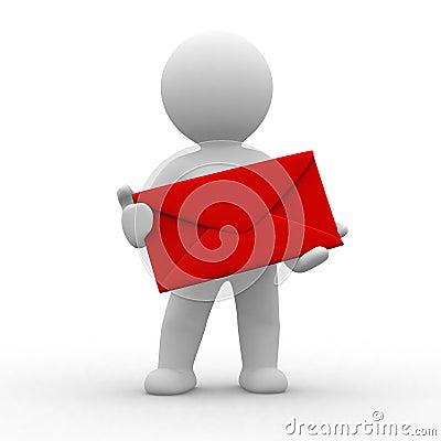 Free Human With Envelope Stock Photos - 6622763