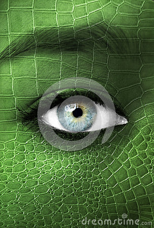 Free Human With Lizzard Skin Texture - Mutation Concept Royalty Free Stock Images - 35555149