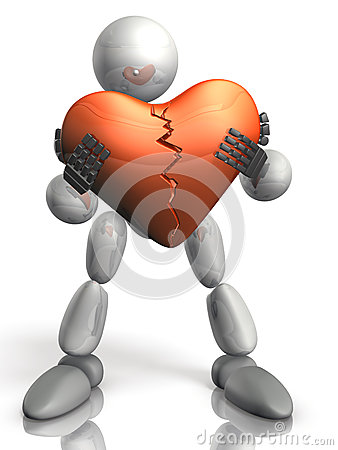 Humanoid have the damaged heart.