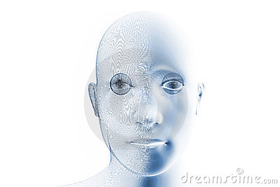 Humanoid robotic face