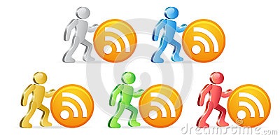 Humans and RSS icon