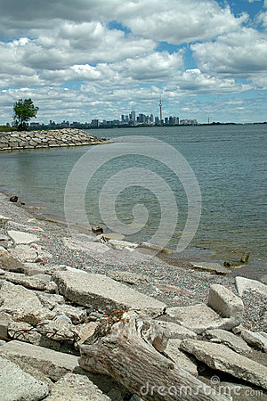 Humber Bay Beach view of Toronto Ontario Canada