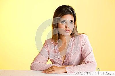 Humble asian Muslim young woman