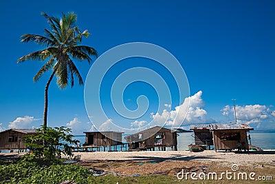 Humble homeson the east coast of Sabah, Borneo.