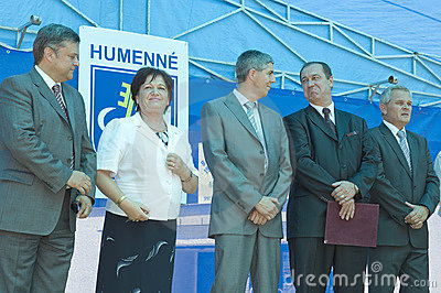 Humenne politician meeting Editorial Stock Photo