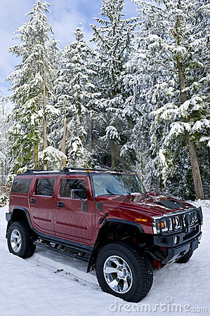 Free Hummer H2 In The Snow Royalty Free Stock Photography - 4204017