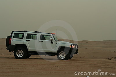Hummer H3 in Desert Editorial Image