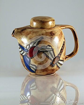 A Hummingbird Dragonfly Teapot 2