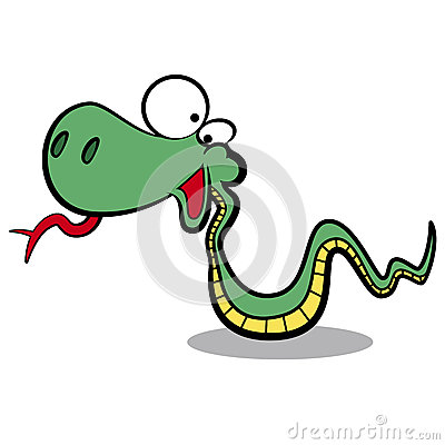 humor cartoon snake running