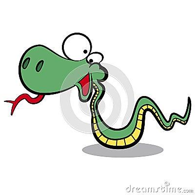 humor cartoon snake running