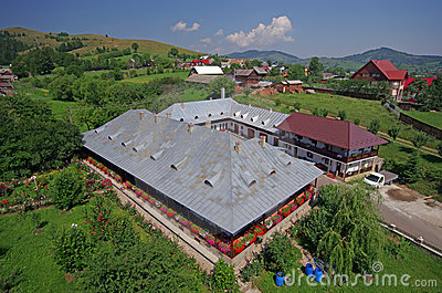 Humor monastery, monk s huts