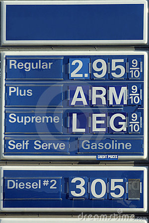 Free Humorous Gas Sign Royalty Free Stock Photography - 18382807