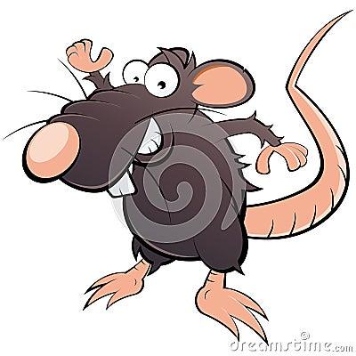 Humorous rat cartoon