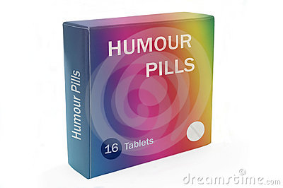 Humour boost concept.