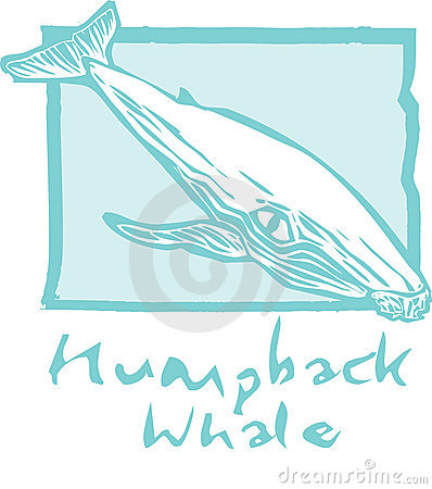 Humpback Whale in Blue