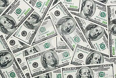 Hundert Dollar Banknoten