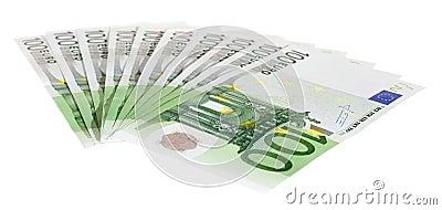 Hundert Eurorechnungen
