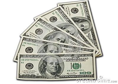 Money 100 dollar bills