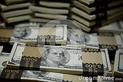 Hundred Dollar Bill Bundles 1