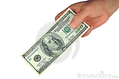 Hundred Dollar Bill  (with Clipping Path) Stock Images - Image: 519804