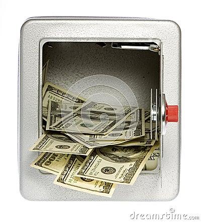 Hundred Dollar BillsOut of an unlocked, open  Safe