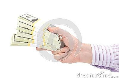 Hundred dollars in hand