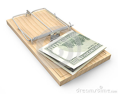 Hundred dollars in a mousetrap