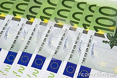 Hundred Euro background