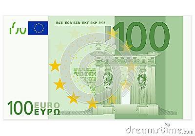 Hundred euro banknote