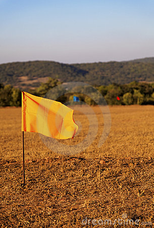Hundred metre marker flags