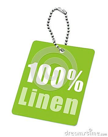 Hundred percent linen