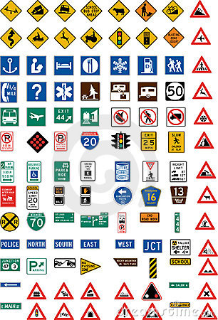 Free Hundred Traffic Signs Royalty Free Stock Photos - 4580618