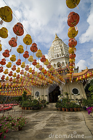 Hundreds of lanterns at Kek Lok Si Temple