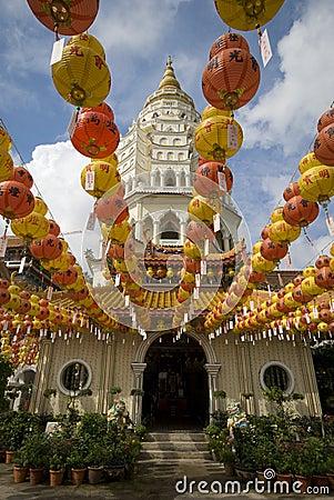 Hundreds of lanterns at Kek Lok Si Temple