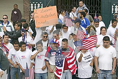 Hundreds of thousands of immigrants Editorial Photography