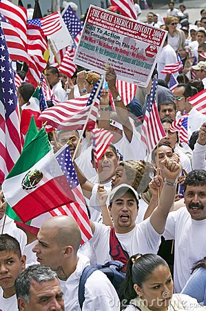Hundreds of thousands of immigrants Editorial Stock Image