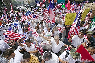 Hundreds of thousands of immigrants Editorial Stock Photo