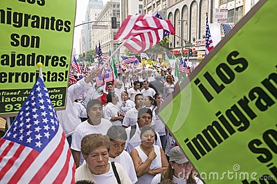 Hundreds of thousands of immigrants Editorial Image