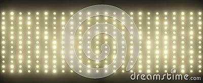 Hundreds of tiny light bulbs