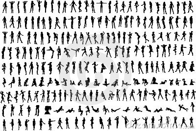 Hundreds Women s Silhouettes