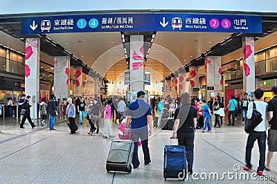 Hung hom railway station, hong kong Editorial Image