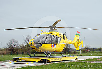Hungarian Air ambulance Editorial Image