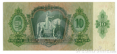 Hungarian banknote at 10 pengo, 1936 year