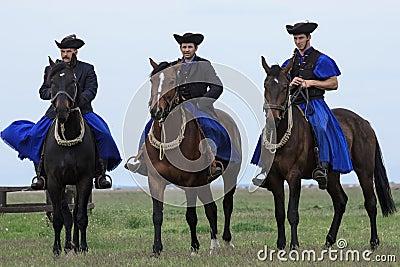 Hungarian Cowboys Editorial Stock Photo