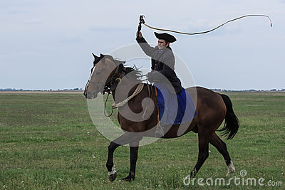 Hungarian Cowboys Editorial Photo
